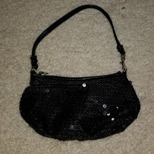 Small black sequin bag